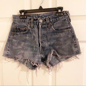 Vintage Levi's 501 High Waisted Shorts W28
